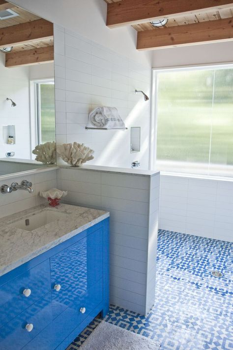 Tile And Glossy Surfaces Download Www Roomhints Com App Blue Tile Floor Surf Shack House