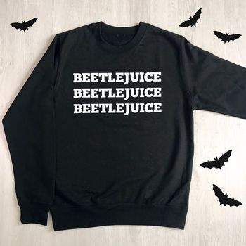 Beetlejuice Halloween Sweatshirt by Lovetree Design, the perfect gift for Explore more unique gifts in our curated marketplace. Halloween Fashion, Halloween Outfits, Fall Outfits, Halloween Costumes, Cute Outfits, Halloween Shirts Kids, Halloween Music, Halloween Clothes, Beetlejuice Halloween