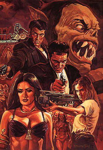 From Dusk Till Dawn 1996 Starring Harvey Keitel George Clooney Juliette Lewis Quentin Tarantino Salma Hayek Movie Artwork Vampire Movies Movie Art