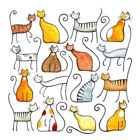 Assorted Cats | Julia Marshall