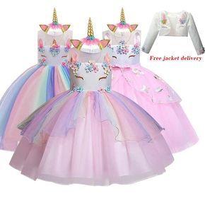 Nuevo Vestido De Elsa Y Unicornio Para Ninas Vestido De Baile Bordado Vestidos De Princesa Para Cumpleanos Trajes De Fiesta Ropa Para Ninos Aliexpres En 2020 Vestidos De Cumpleanos