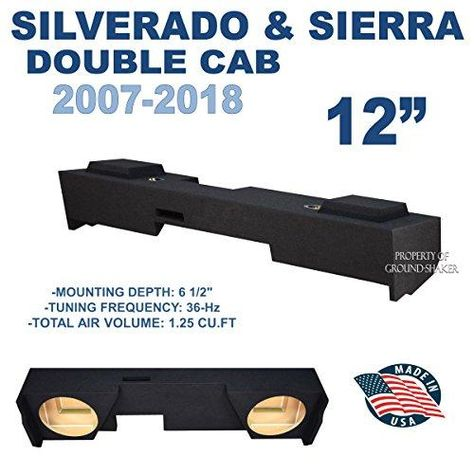 Chevy Silverado Gmc Sierra Ext Double Cab 2007 2018 12 Dual Ported Sub Box Chevy Silverado Trunk Liner Chevy