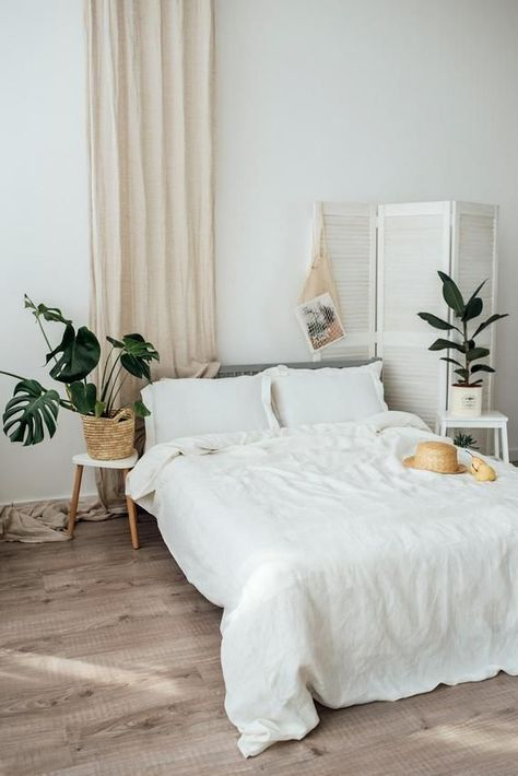 light and airy bedroom #home #style #decor