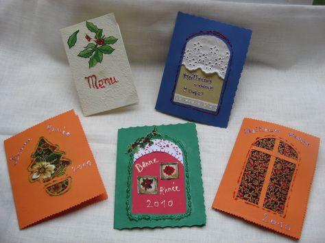 Cartes De Voeux A Faire Soi Meme Cartes De Voeux Deco Noel A