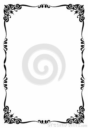 Blank Template Of Menu Card Background With Frame A Cute And