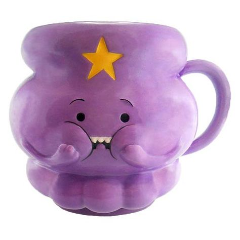 When you sip from this Adventure Time Lumpy Space Princess 24 oz. Molded Coffee Mug, you will swear you hear her tell you to lump off or to lay off her lumps.