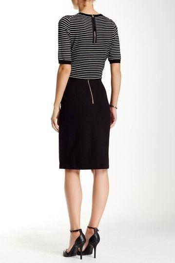 Philosophy Apparel Solid Ponte Pencil Skirt Nordstrom Rack Pencil Skirt Knee Length Skirt Pencil Knit Pencil Skirt