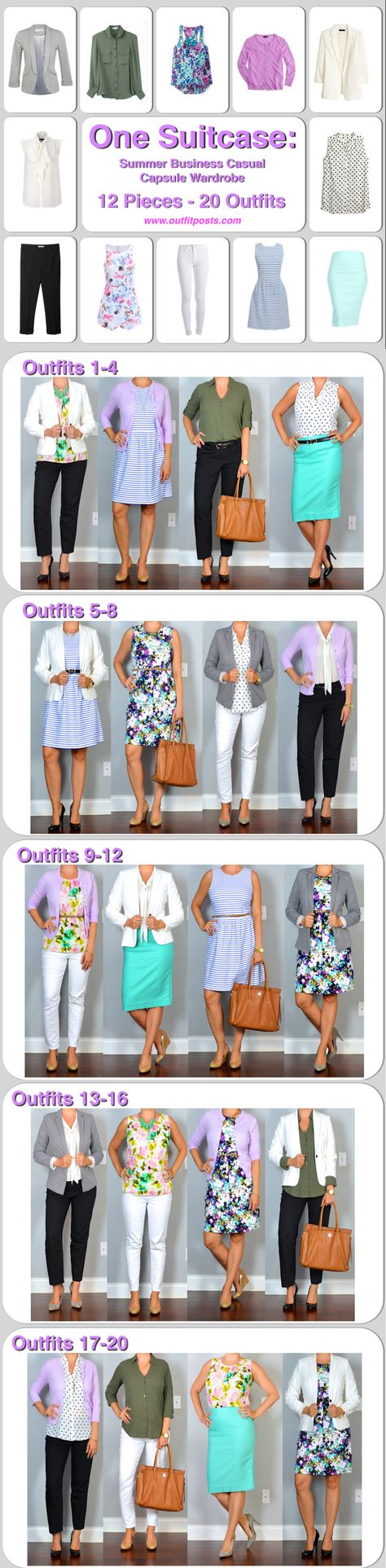 one suitcase: summer business casual capsule wardrobe   Outfit Posts