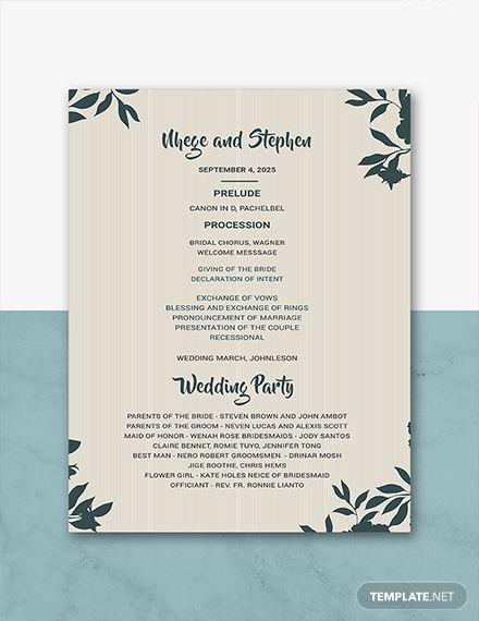 Free Wedding Program Template Wedding Programs Template Wedding Program Template Free Wedding Programs