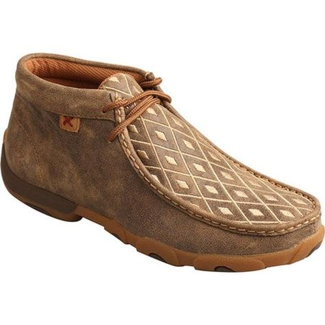 Style MDM0033 Men/'s Twisted X Driving Mocs-Bomber//Tan Basket Weave