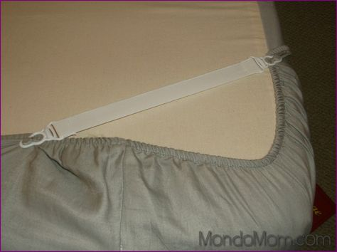 Smart hack: use sheet straps to prevent futon cover from slipping off