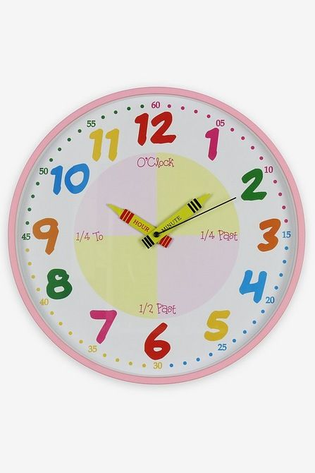 Image For Hometime Wall Clock Teach The Time From Studio In 2020 Clock Wall Clock Kids Wall Clock