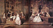Jean Antoine Watteau (1684-1721) L'enseigne de Gersaint 1720