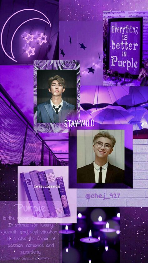 Purple love for BTS Namjoon Day