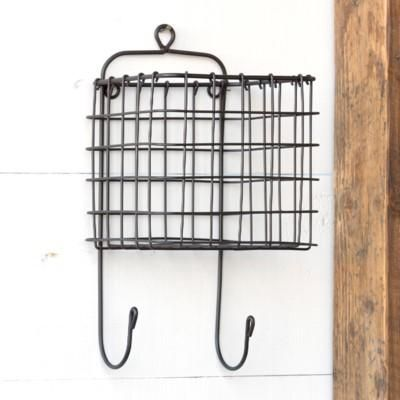 Our Hanging Wire Basket With Hooks Is A Great Way To Add A Little Extra Storage And Organization To Any Space Hang It In Your Kitchen Craf Hanging Wire Basket Bathroom