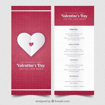 Download Modern Valentine Menu Template For Free Menu Template Menu Template Word Valentines Printables Free