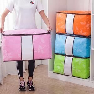 Flash Sale 62l Folding Bamboo Charcoal Clothes Storage Bag Storage Bags For Clothes Bag Storage Storage Bins Organization