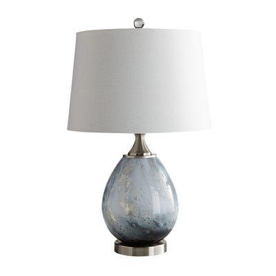Seafoam Art Glass Gray Table Lamp Pier 1 Grey Table Lamps Table Lamp Lamp