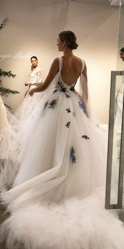 36 Pretty Floral Wedding Dresses For Brides Wedding Forward Cheap Wedding Dress Floral Wedding Dress Wedding Dresses Ebay