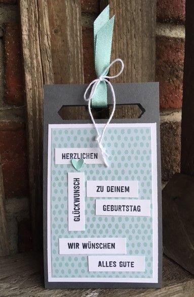 Stempelduett Verpackung Fur Eine Gutscheinkarte Gutschein Basteln Gutscheinkarten Gutschein Selber Basteln