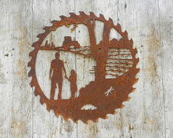 Farm Wall Decor Dad Gift Father Daughter Tractor Gift Farm Sign Rusty Metal Garden Art Dad Tractor Rusty Metal Garden Art Farm Gifts Farm Wall Decor