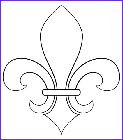 45 New Collection Of Fleur De Lis Coloring Page In 2020 Drawing