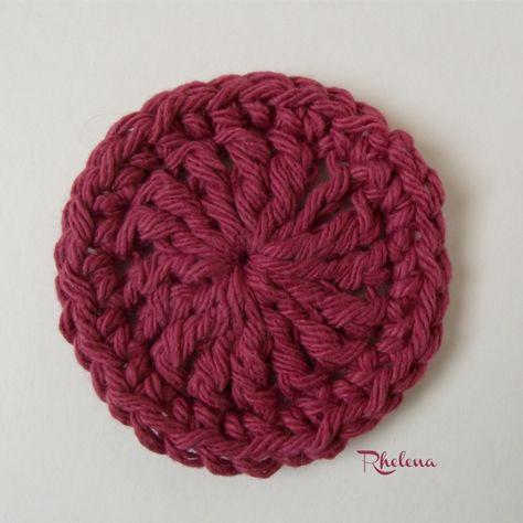 Simple Edge Scrubby | Puntos crochet, Círculos y Apliques