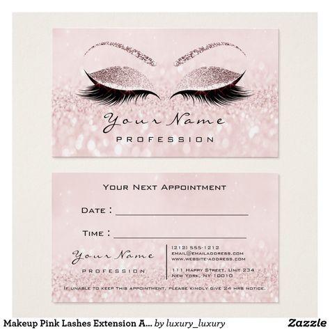 19 Kartu Nama Ideas Lashes Logo Makeup Artist Logo Beauty Business Cards
