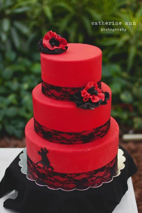 Inspired by my love of ballroom. The Argentine Tango Cake