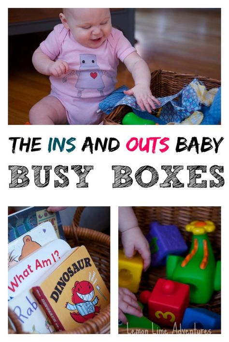 Coordinate your toys: 5 simple Tips for Successful Busy Boxes for Babies *great info
