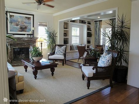 British Colonial Living Room