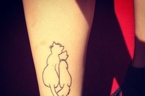Aristocats Outline - Dainty Disney Tattoos That Only True Fans Will Know Are Disney Tattoos - Photos