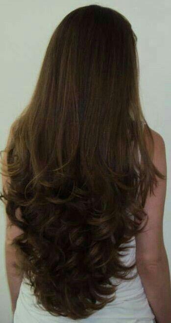 Corte De Cabello En Capas Largas - Long Layered Haircut