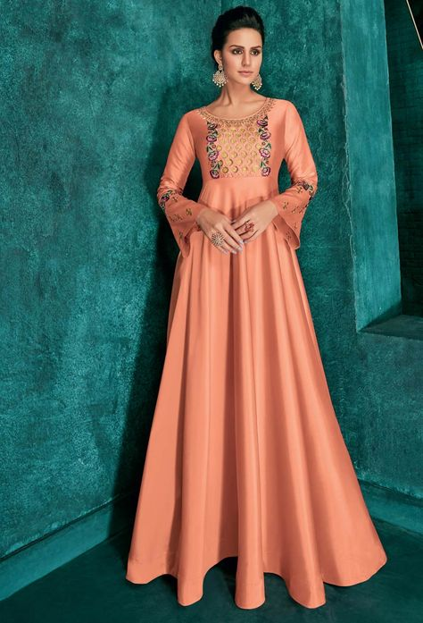 Floor #length #anarkali #suits is a #desirable dress of all the #woman. it is the best #dress from #India to around the #world. #Nikvik.com is the #best seller of floor length anarkali #suit.