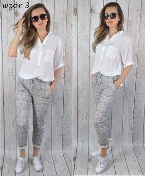 Spodnie Dres Rozne Wzory Jeans Kwiaty Moro Kratka Fashion Grey Jean Jean
