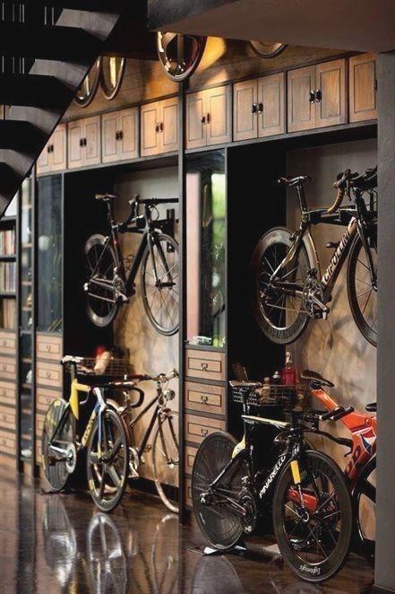 Space Storage Bicycle Garage Ideas Man Cave Workshop Organization Organize Home House Indoor Bike Storage Garage Man Cave And Workshop Garage Bike