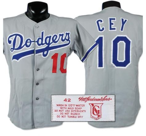 Early 1980 s Ron Cey Game Worn Jersey  6c38eb754c5
