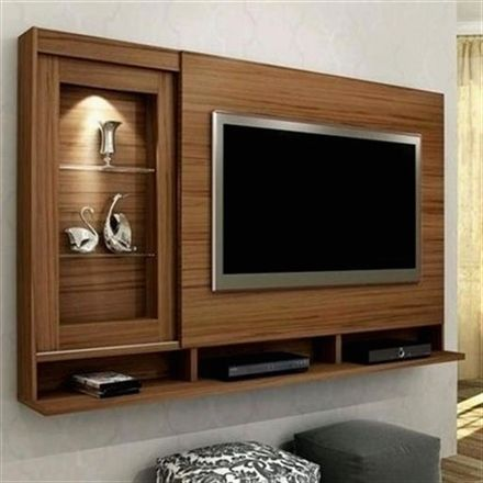 Pin by Sakshi Jain on furniture in 2019 | Living room tv ... Ideas For Wall Mounted Tv In A Mobile Home on