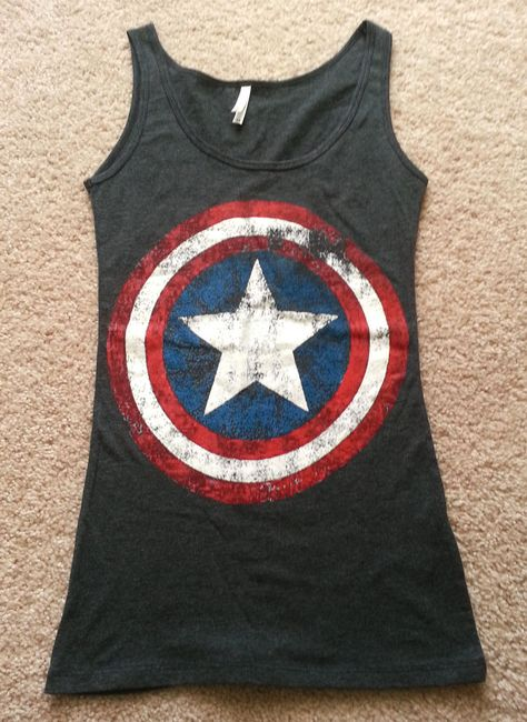 "*CAPTAIN AMERICA*...Marvel's Original Logo "" Women's Charcoal  Tank Top"