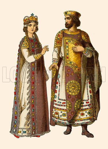 I chose this to represent Byzantine because these are the types of clothes they would wear, which reflects off of the architecture and decor.