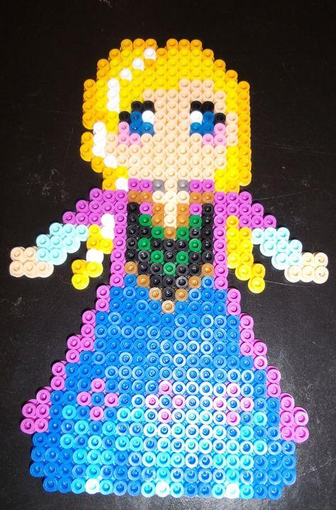 Frozen Inspired Anna perler beads  by BonusLifeJewelry