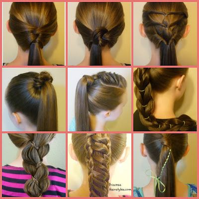 Easy Ponytail Ideas For School Video Tutorial Hairstyles Ponytail Braid Ponytail Hairstyles Easy Long Hair Styles Hair Styles