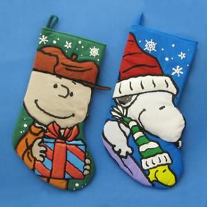 Pack of 6 Peanuts Charlie Brown and Snoopy Christmas Stockings 19 ...