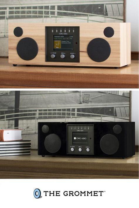 Inside this classic, 70s-inspired wooden design lives a robust, hi fidelity digital radio. Designed by sound guru and Audio Hall of Fame veteran Tom Devesto, this music system is smarter than its good looks. Customize its buttons to play music from different sources (FM, internet radio, Bluetooth, Spotify Connect, etc.), and save favorite stations/sources. The perfect gift for music lovers, you won't regret this incredible listening experience.