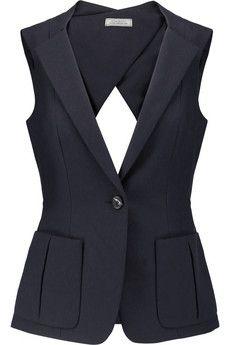 Nina Ricci Cutout cotton-piqué vest   THE OUTNET