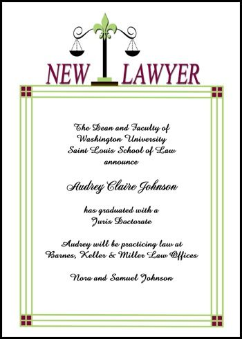 enjoy free scales of justice law school graduation invitations and - inauguration invitation card sample