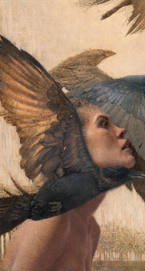 Daniel Bilmes, Ascending into the Unknown (detail), oil on panel Renaissance Paintings, Renaissance Art, Aesthetic Painting, Aesthetic Art, Art Sketches, Art Drawings, Arte Obscura, Classical Art, Pretty Art