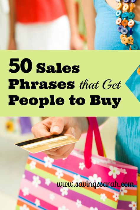 50 Sales Phrases That Get People to Buy - Earning and Saving with Sarah