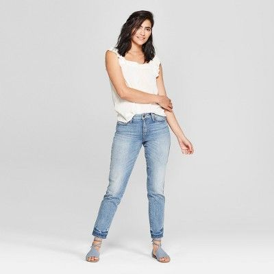 NWT Universal Thread™ Women/'s Black Wash High-Rise Lace-Up Skinny Jeans