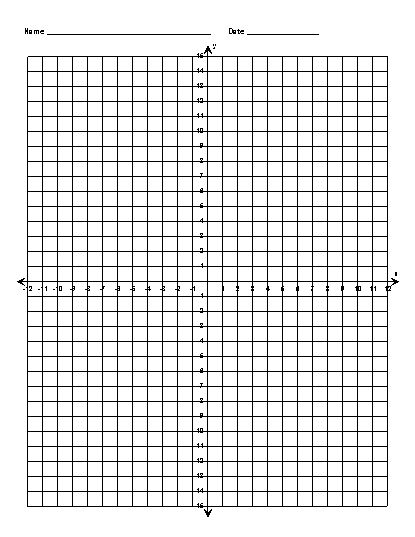 Scooby Doo Coordinate Graphing Picture4 quadrant graphing picture - math grid paper template